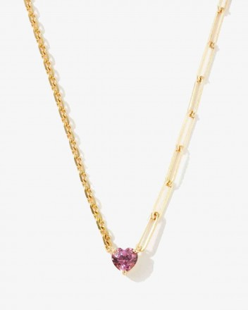 Collier Solitaire Coeur...