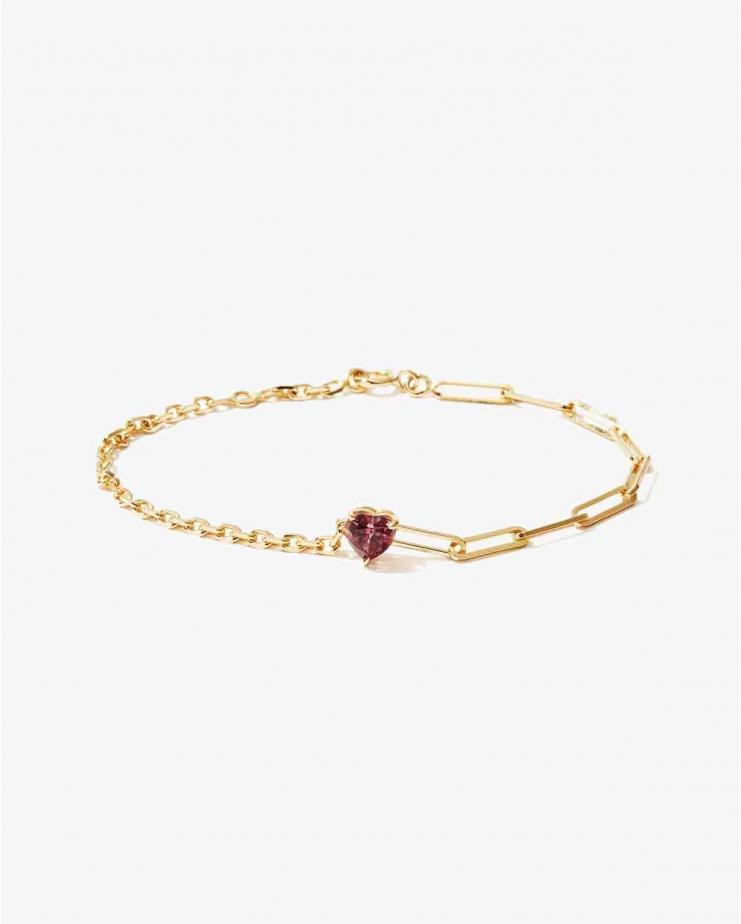 Bracelet Solitaire Coeur...