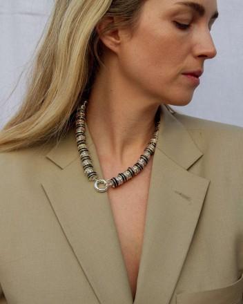 Zebra Diamond Necklace