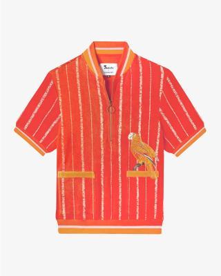 El Pájaro Cubano Shirt in Orange