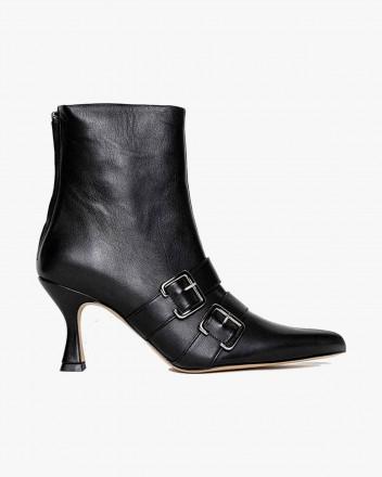 Thyri Black Boots in Vegan...