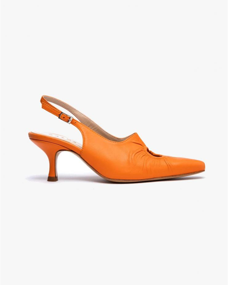 Peki Heels in Orange