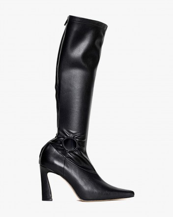 Fory Black Boots in Vegan...