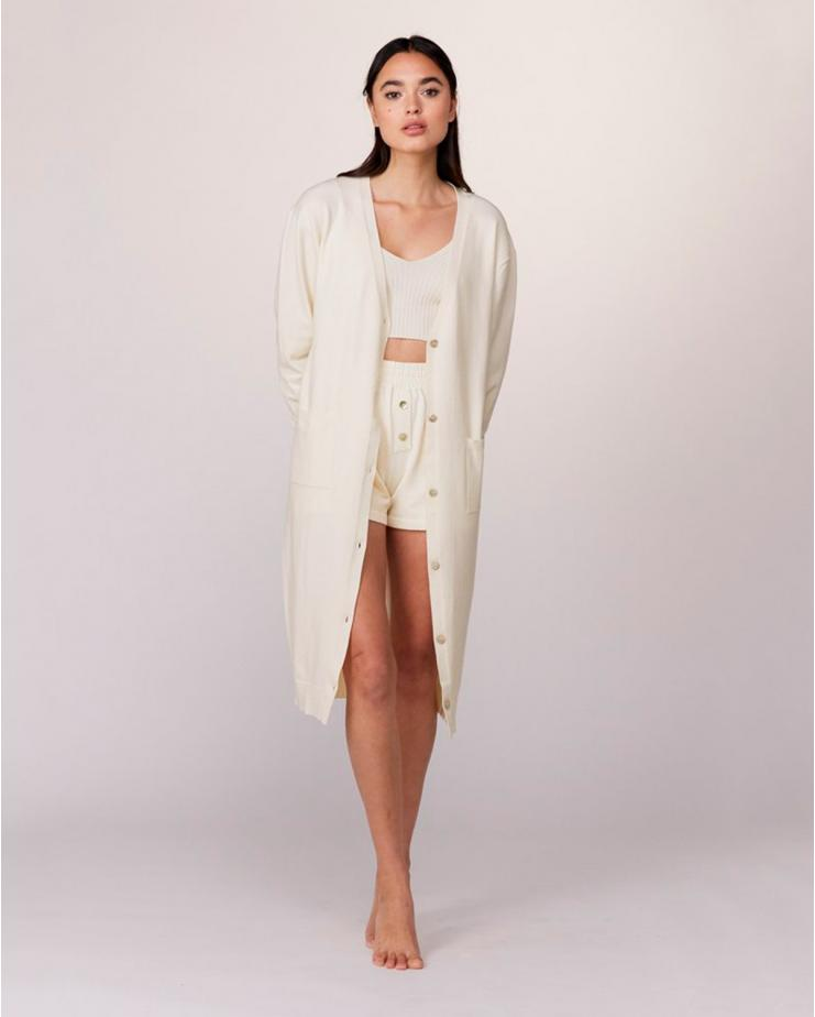 Cashmere Long Cardigan in...