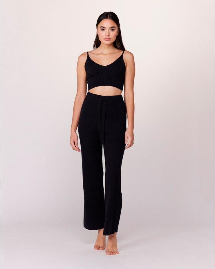 Cashmere Trak Pant in Black
