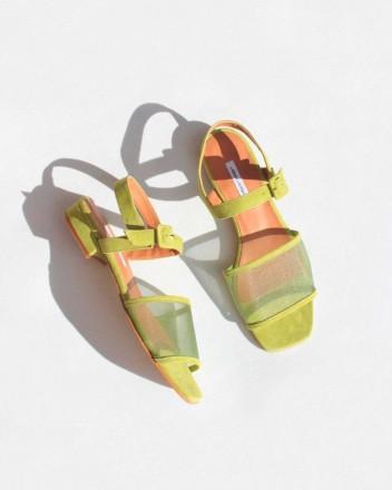 Marini Mesh Sandals in Plant