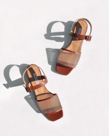Marini Mesh Sandals in Soil