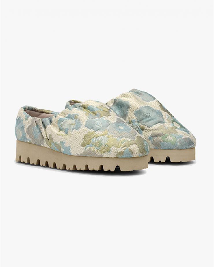 Camp Shoe Flower Jacquard Low