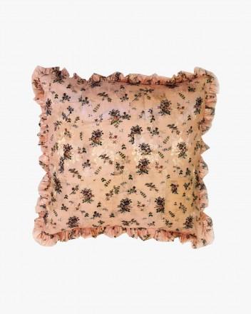 Daphne Floral Peach Cushion