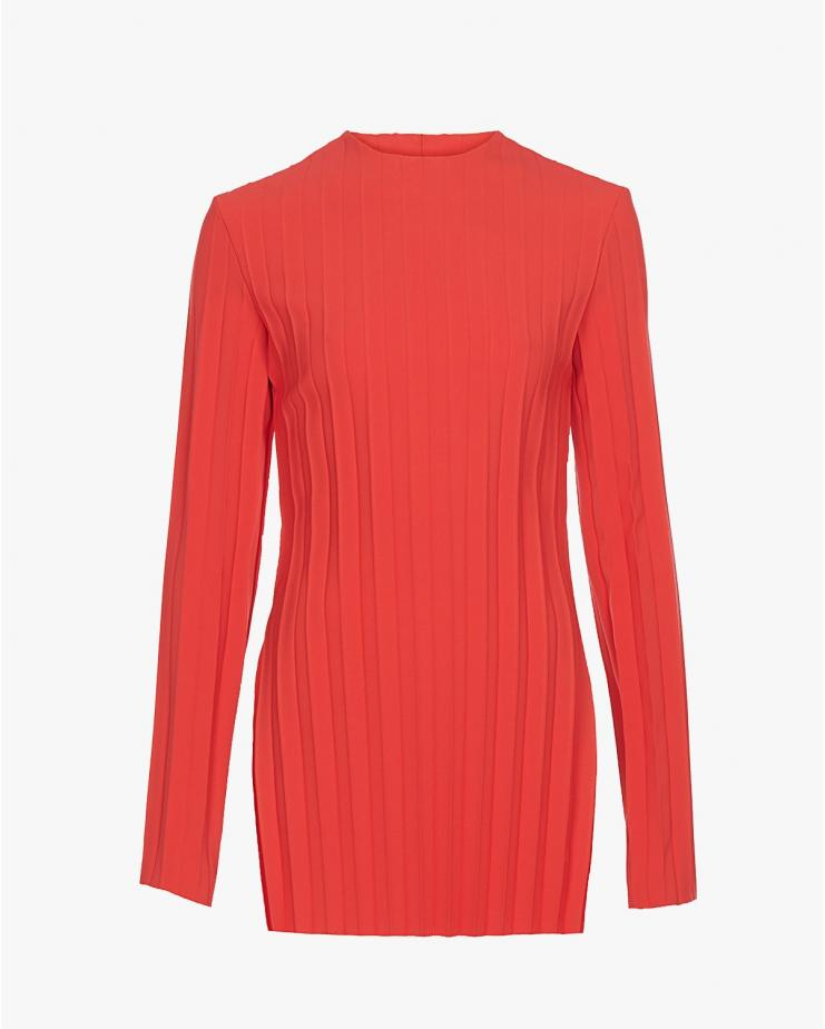 Pleated Top in Red