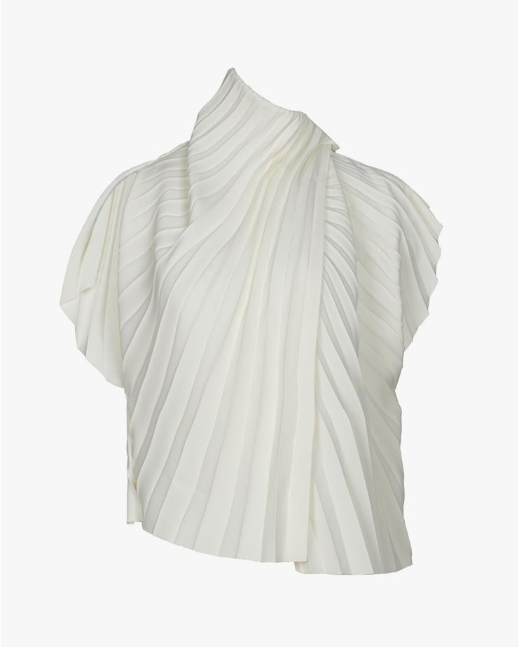 Pleated Asymmetric Top in...
