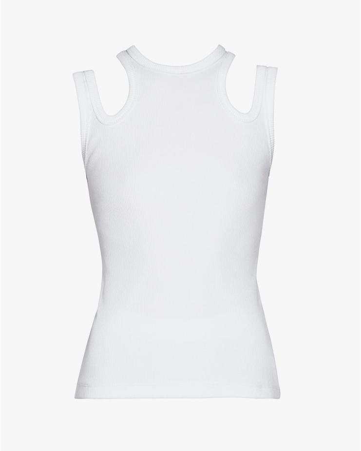 Multi Strap Tank Top in White