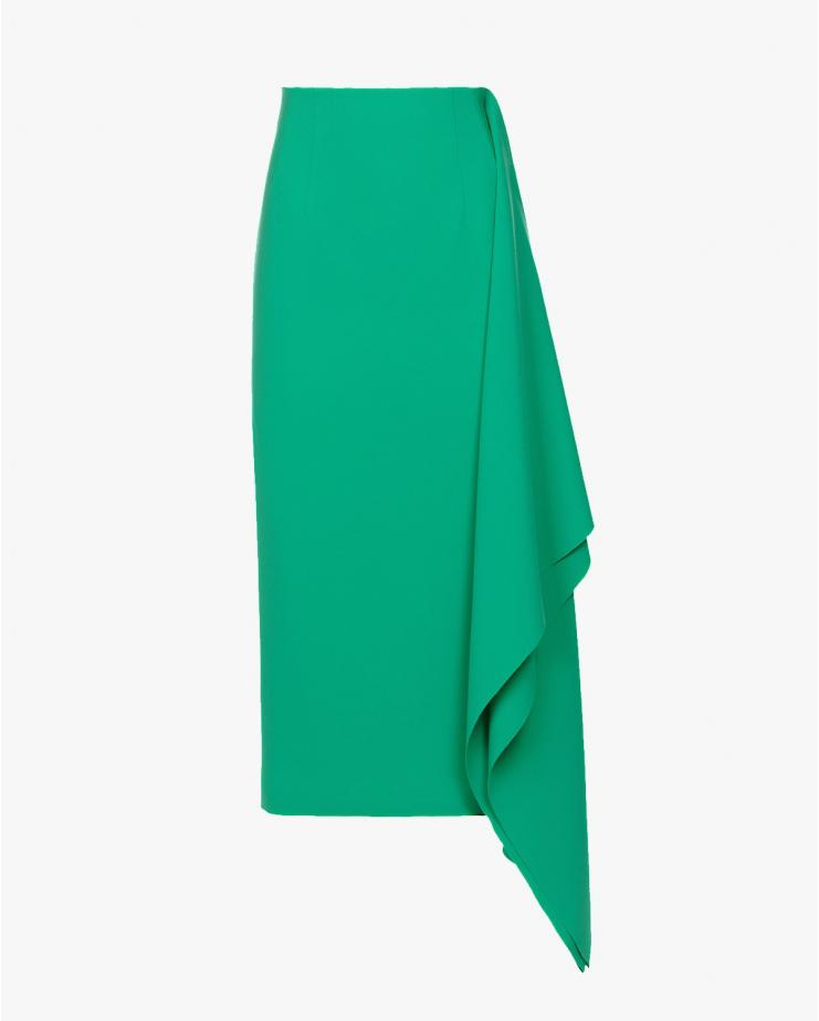 Double Midi Skirt in Green