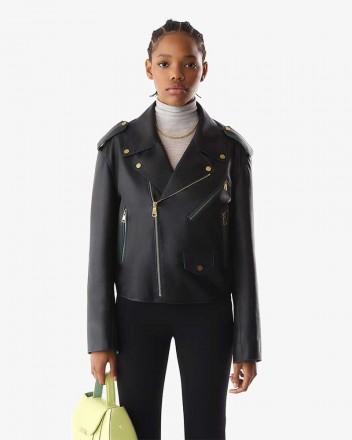 Classic Biker Jacket in Black