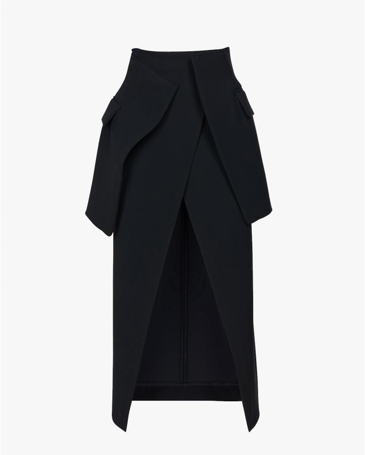 Deconstructed Wrap Skirt