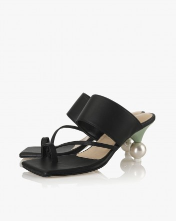 Ellia Toe Mules in Black