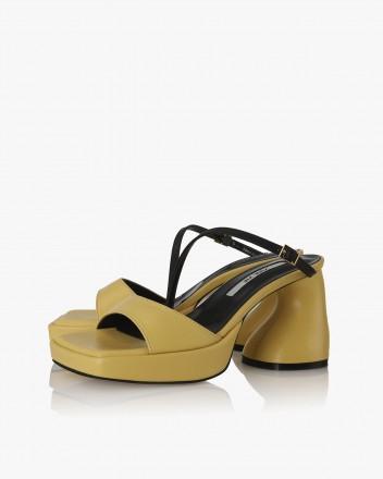 Sandra Sandals in Yellow