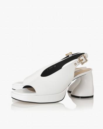 Dorcey Slingbacks in White