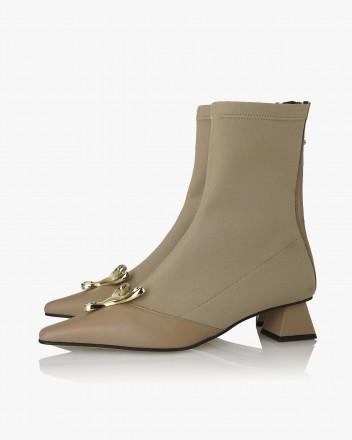 Yvette Socks Boots in Cocoa