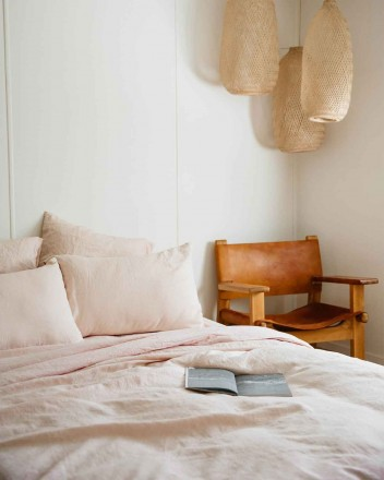 Duvet Cover in Blush