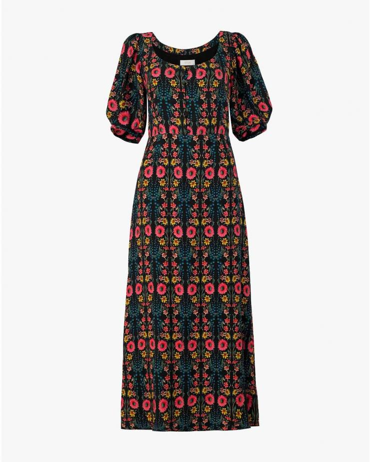 Joni Dress in Wildflower Black