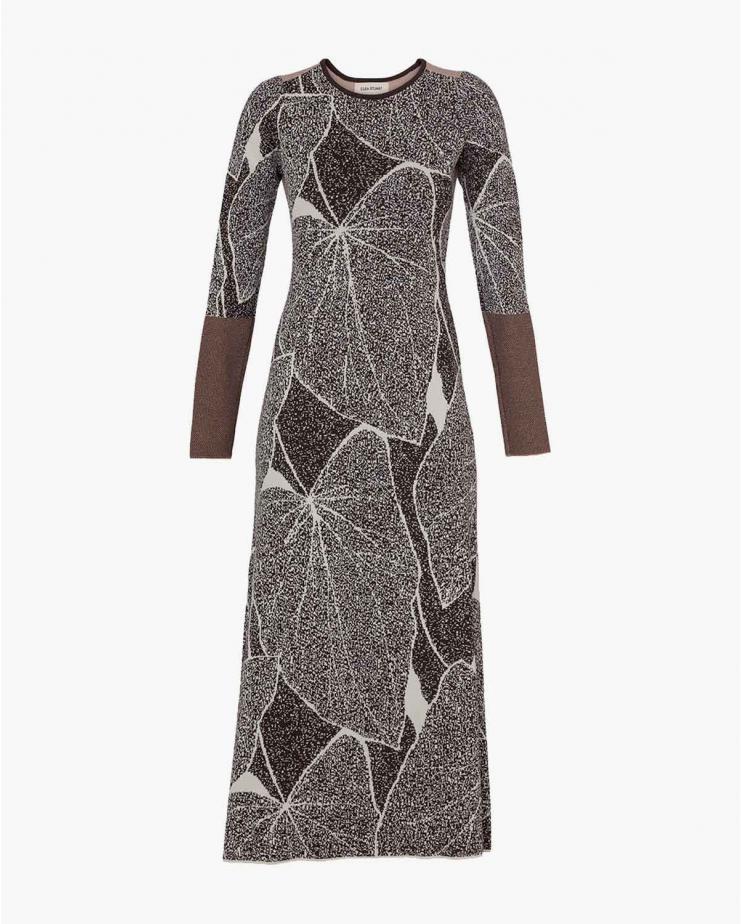 Ecru Leaves Dress