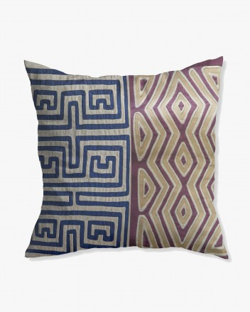 Kuna Cushion in Blue