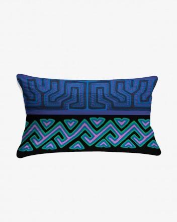 Kuna Cushion in Dark Blue