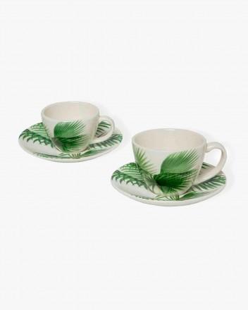 Palm Tree Tea Cups Set