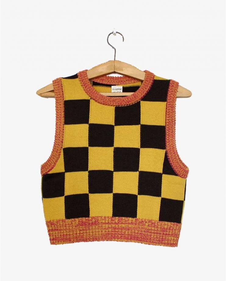 Checkmate Vest Yellow and Brown