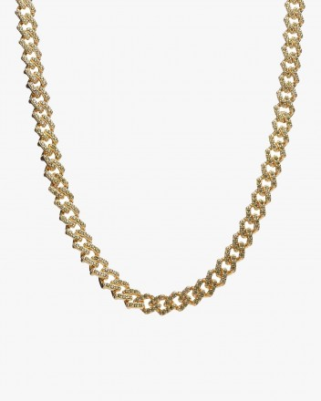 Mexican Chain Necklace Olive