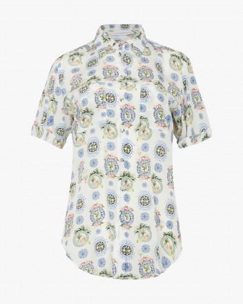 Roseraie Shirt Porcelaine