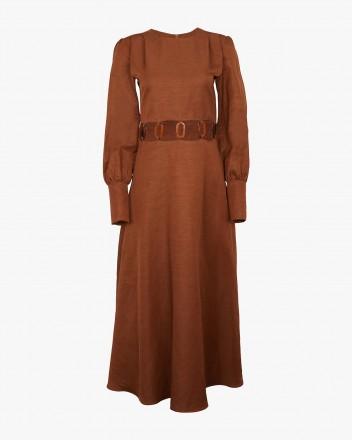Claudia Dress in Brown
