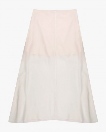 Fern Midi Skirt in Ivory