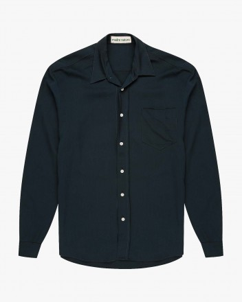 Flannel Shirt in Navy