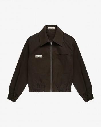 Fig Bomber Jacket in Dark...