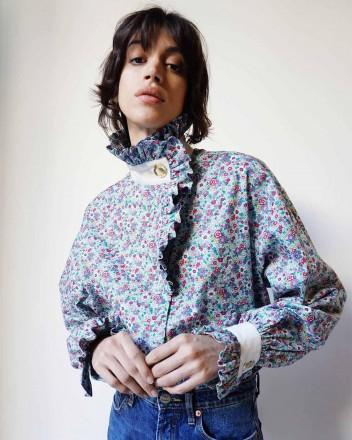 Ezra Shirt in Blue Bloom