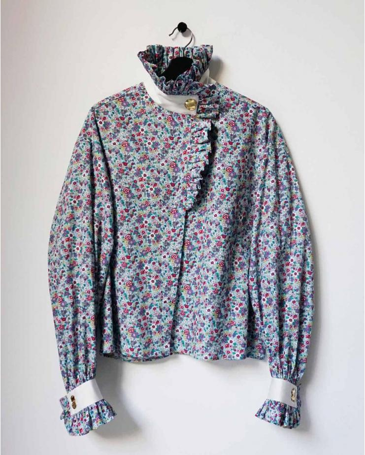 Ezra Shirt in Blue Bloom