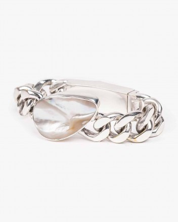 Waved Bracelet in Silver