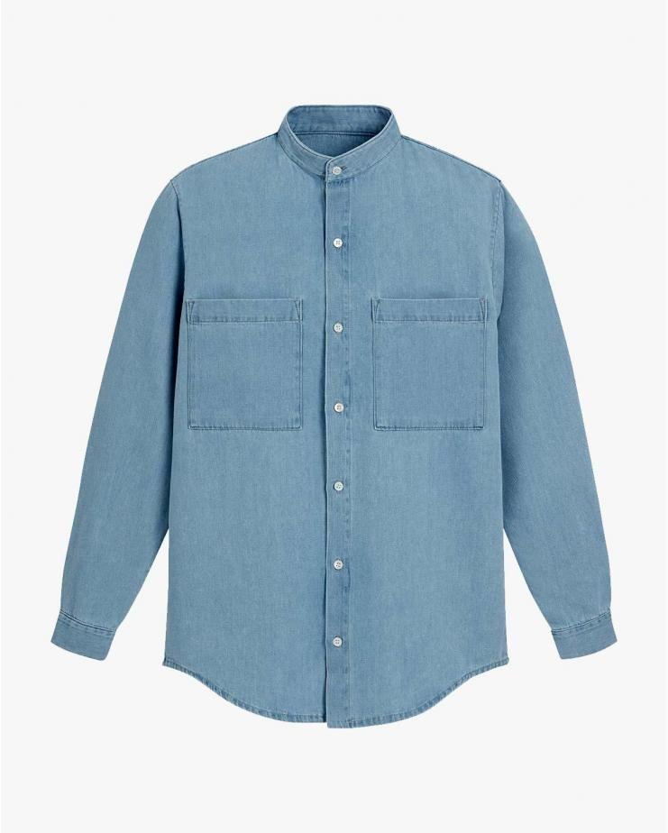 Spring Shirt in Blue Bleached