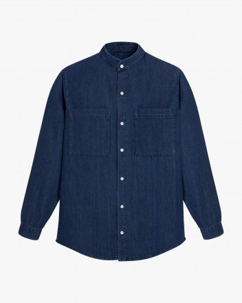 Spring Shirt in Indigo Blue