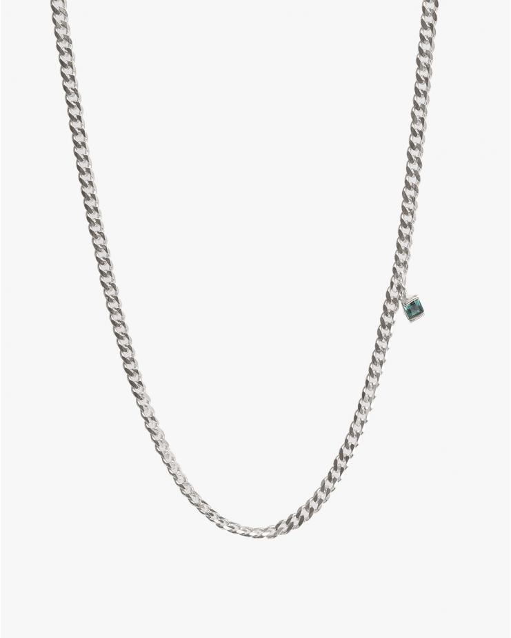 Warped Single Necklace in Silver