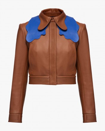 Cropped Jacket With Collar