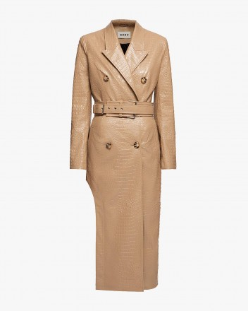 Beverly Coat in Nude