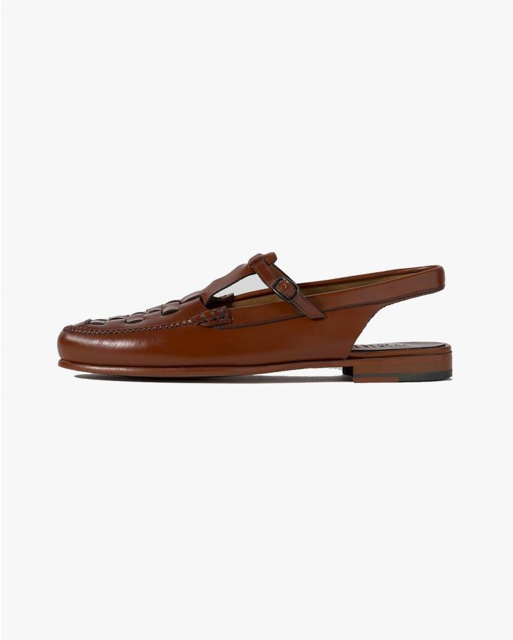 Roqueta Slingback Loafer in Tan