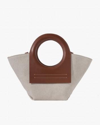 Cala Mini Tote Bag in Beige...