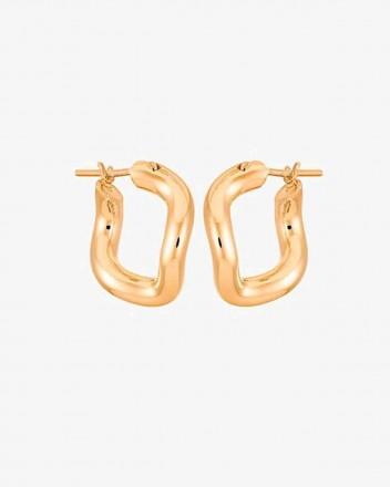 Wave Earrings pair in Vermeil