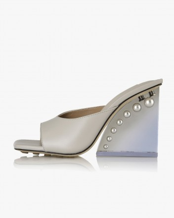 Estelle Mules in Cloud Grey