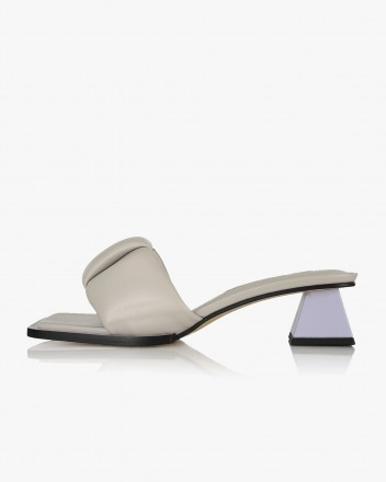 Posie Mules in Cloud Grey