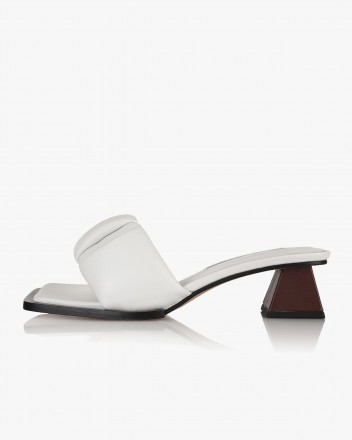 Posie Mules in White